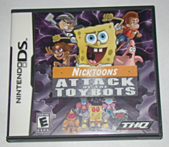 Nintendo Ds   Thq   Nicktoons Attack Of The Toy Bots (Game/Case No Manual) - $5.50