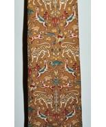 VTG SALVATORE FERRAGAMO Multi-Color Safari Cheetah Bird Dog Silk Men's Necktie - $74.25