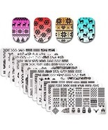 Born Pretty 12Pcs Nail Art Stamp Stamping Template Christmas Snowflake ... - $45.44