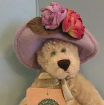 """JOINTED PLUSH 6"""" Boyds Bears Garden Friends PURPLE HAT """"TWILA HUGGENTHORPE"""" - $19.80"""