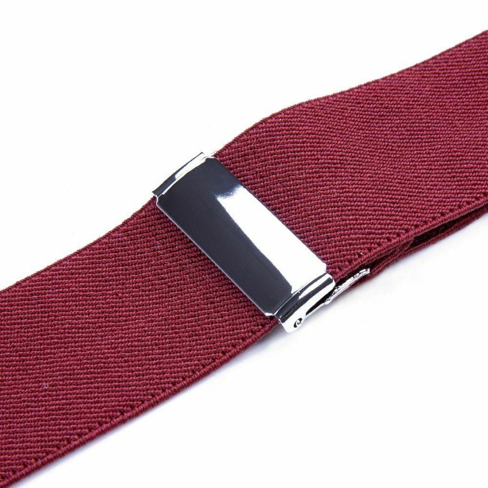 Unisex Suspender Set Width Adjustable Elastic Fashion Braces Suit Wear 125Cm image 5