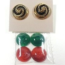 Color Collections Earrings Avon Vintage 1988 Openwork Gold Tone Pierced ... - $13.19