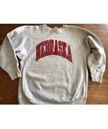 NEBRASKA Champion Reverse Weave SWEATSHIRT XL 90s University cornhuskers... - $38.95