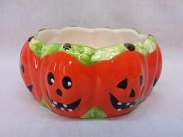 Royal Norfolk Halloween Candy Dish Jack-O-Lantern Bowl Ceramic VGUC - $14.84