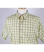 Lee Mens Yellow Plaid Short Sleeve Shirt Size Large - $13.85