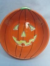 Hausen Ware Libby Ceramic Jack-o-Lantern Bowl Candy Dish Halloween EUC - £14.09 GBP