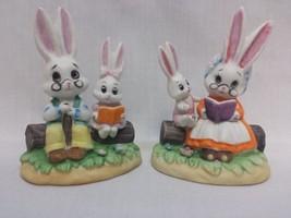 Vintage Pair of Lefton Porcelain Grandparent an... - $13.85