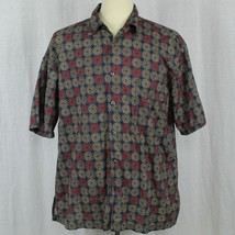 Cooke Street Honolulu Camp Aloha Geometric Pinwheel Shirt Cotton Men Sz ... - $23.38