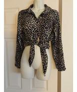 Mileage Women's Leopard Print Blouse Sz S - $9.99