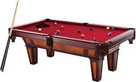7.5 ft Pool Table Wood Billiard Game Play Accessories Cue Balls Burgundy... - $1,963.66