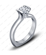 14K White GP Lab Created White Diamond Awesome Design Engagement Bridal ... - $62.99