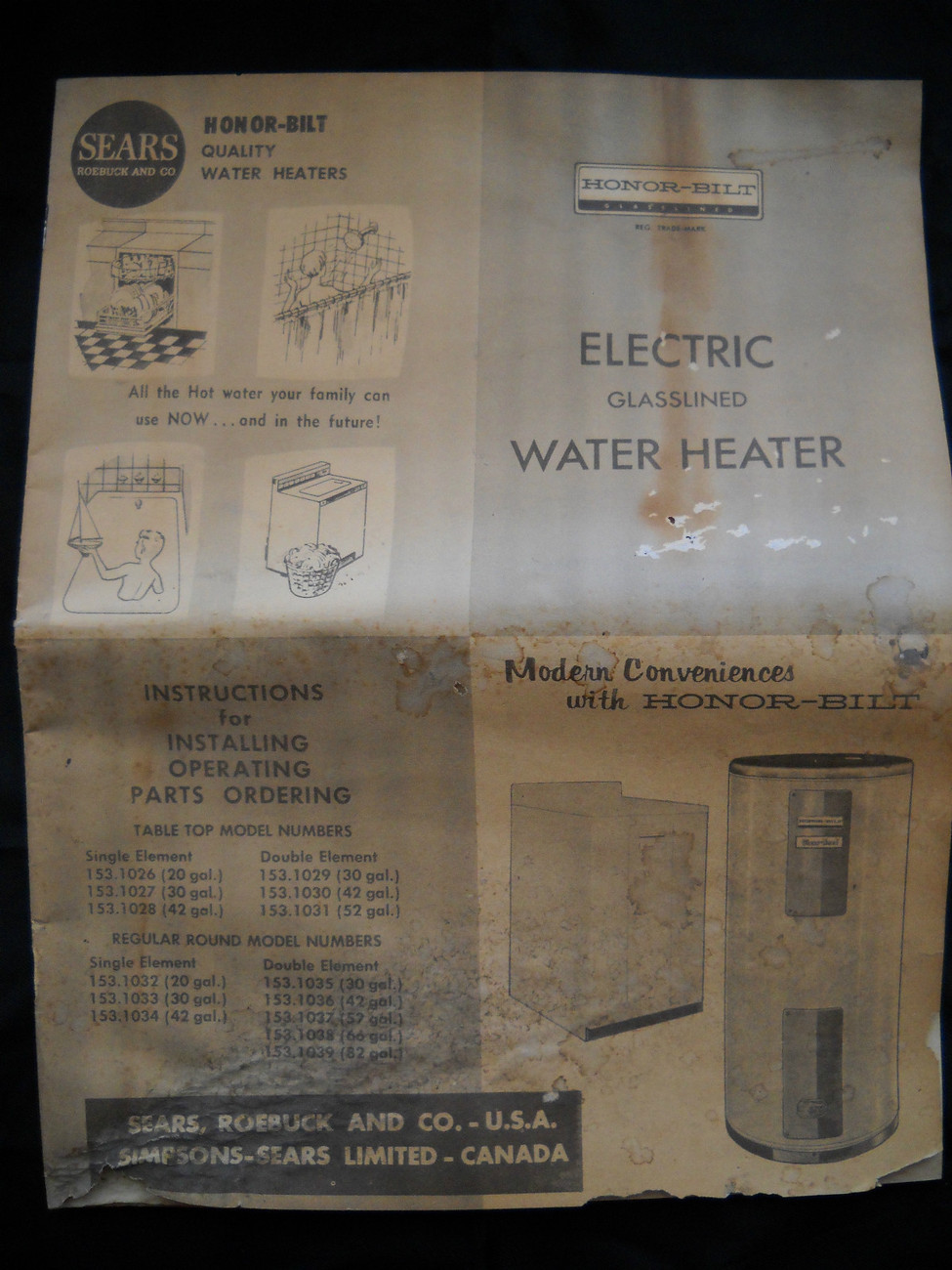Vintage Sears Roebuck And Co. Honor Bilt and 50 similar items on water heater thermostat diagram, water heater exploded view, water heater lighting, water heater vent diagram, water heater system diagram, titan water heater diagram, water heater ladder diagram, water heater breaker box, water heater electrical schematic, water heater interior diagram, water heater repair, water heater exhaust diagram, water heater frame, heat pump water heater diagram, water heater cutaway view, water heater installation, water heater radiator diagram, water heater controls diagram, water heater transformer, water heater fuse replacement,