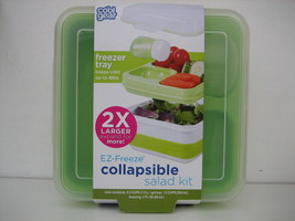 COOL GEAR Salad Kit EZ FREEZE COLLAPSIBLE 4 pc Bento Box Style Container... - £13.33 GBP