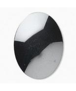 Hematite Gray Oval Cabochon, 40x30 mm hemalyke, shiny gunmetal grey, cab... - $3.50
