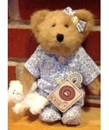 "Boyds Bears ""P J McBeansley w/Cuddles"" - #93006V- 8"" Plush Bear- QVC Exc... - $39.99"