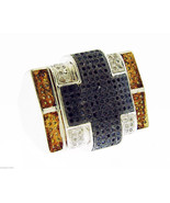 Men's 925 Silver .55CT Genuine black yellow Diamonds Ring Size 9.75 gold... - $395.99
