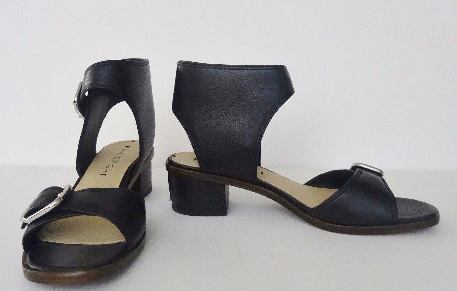a7241ff1ff1 S l1600. S l1600. Previous. NIB Via Spiga Minerva Womens Leather Ankle  Sandals Size 6.5 M 37 ...