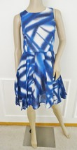 Nwt Kaya & Sloane Woven Tiara Summer Fit & Flare Dress Sz M Medium Blue ... - $64.30