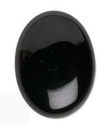 Black Onyx Cabochon, 40x30 mm, shiny 30x40 cab - $8.00
