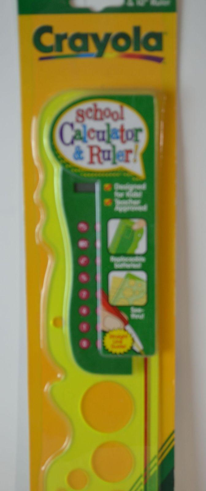 Crayola School Calculator & Ruler