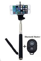 Extendable Selfie Stick/Adjustable Phone Holder/Bluetooth WirelessRemote... - $10.84