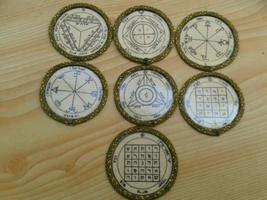Offer 7 Planetary Seals Pentacles of Saturn,Angels. Solomon ancient Tali... - $80.00