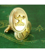 Wolf Point High School Cufflinks 1940's vintage Gold filled jewelry Mont... - $175.00