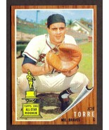 JOE TORRE Rookie Card RP #218 Braves RC 1962 T Free Shipping - $2.75