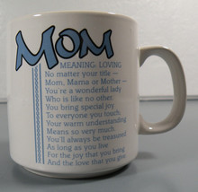 MOM Meaning: Loving Cup Mug Tea Coffee Warm Drink Vintage - $9.95