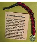 St.Theresa Sacrifice Beads - Wood Beads -R-4 - $2.95