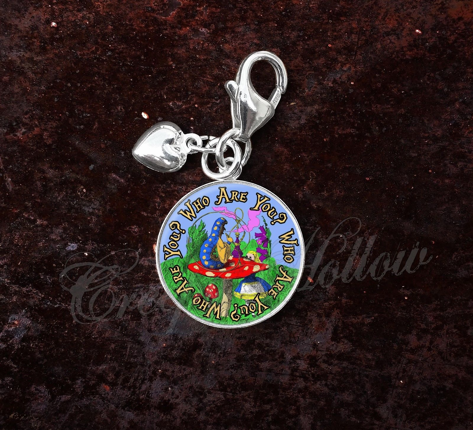 Sterling Silver Charm Choose Alice Wonderland Lewis Carroll Choose Quote