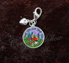 Sterling Silver Charm Choose Alice Wonderland Lewis Carroll Choose Quote image 1