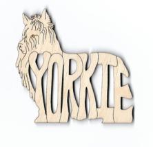 Yorkshire Terrier Yorkie dog laser cut wood Magnet - $7.51