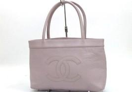 AUTHENTIC CHANEL Caviarskin Leather Monte Carlo MM Tote Bag Light Purple... - $1,090.00