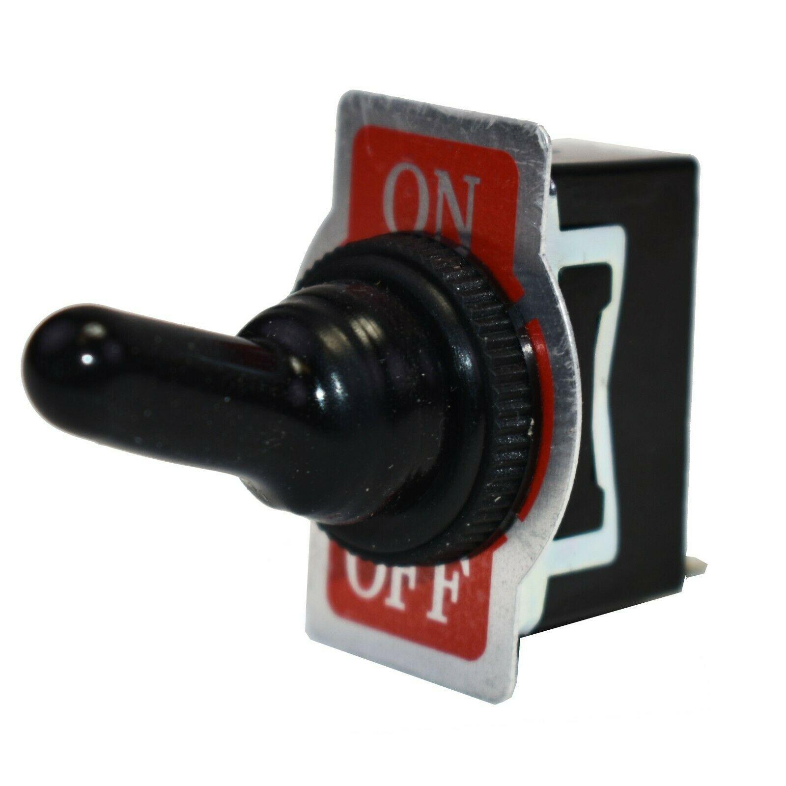 SPST ON-Off Heavy Duty 20 Amp AC/DC Toggle Switch w/ Weatherproof Neoprene Boot