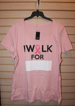 New Torrid Womens Plus Size 2 X Breast Cancer I Walk For     T Shirt Top Powerful - $16.44