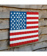 American Flag large Corrugated Metal Wall Hanging - $79.99