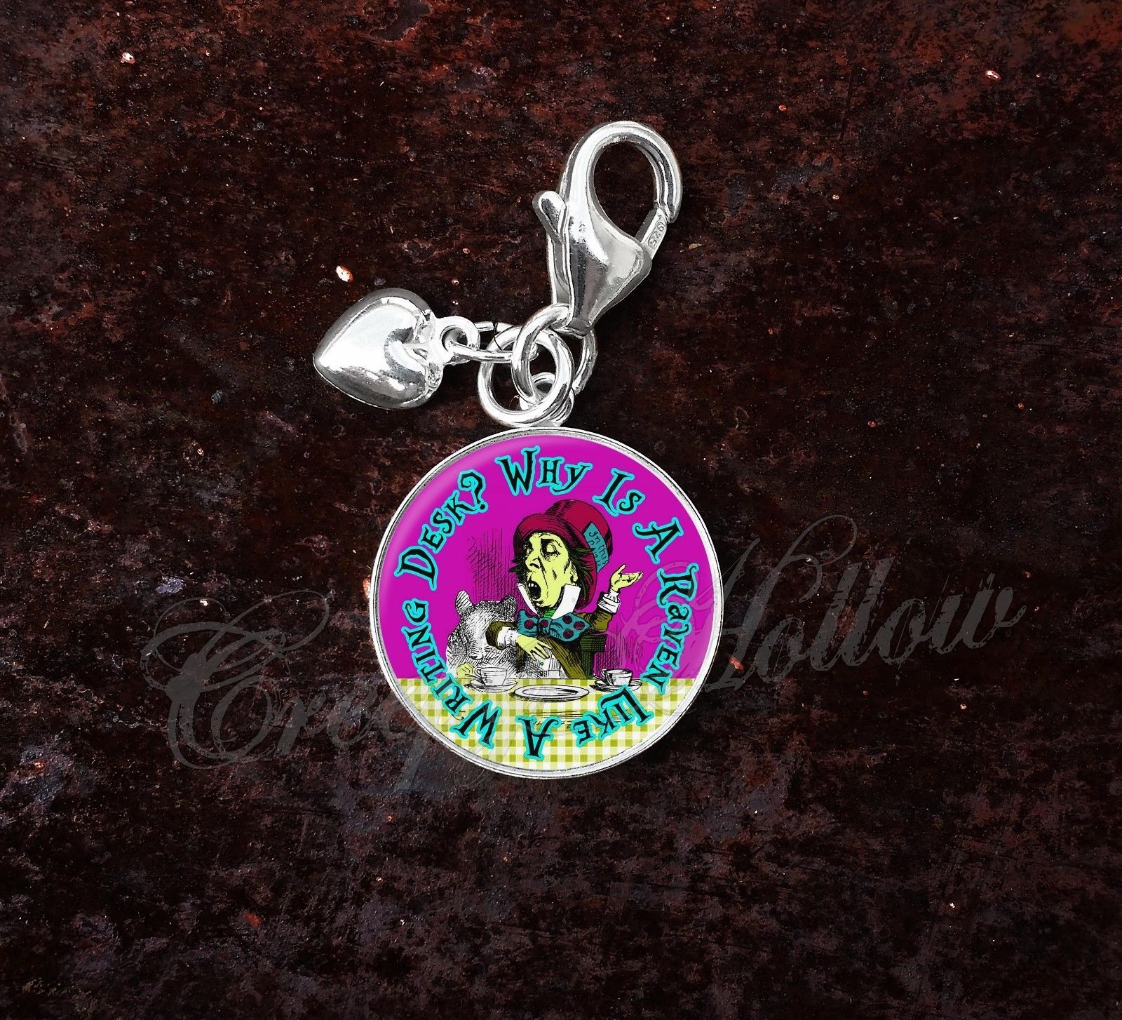 Sterling Silver Charm Choose Alice Wonderland Lewis Carroll Choose Quote image 6