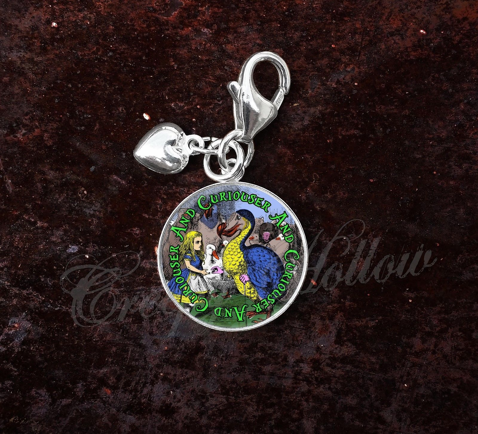 Sterling Silver Charm Choose Alice Wonderland Lewis Carroll Choose Quote image 5