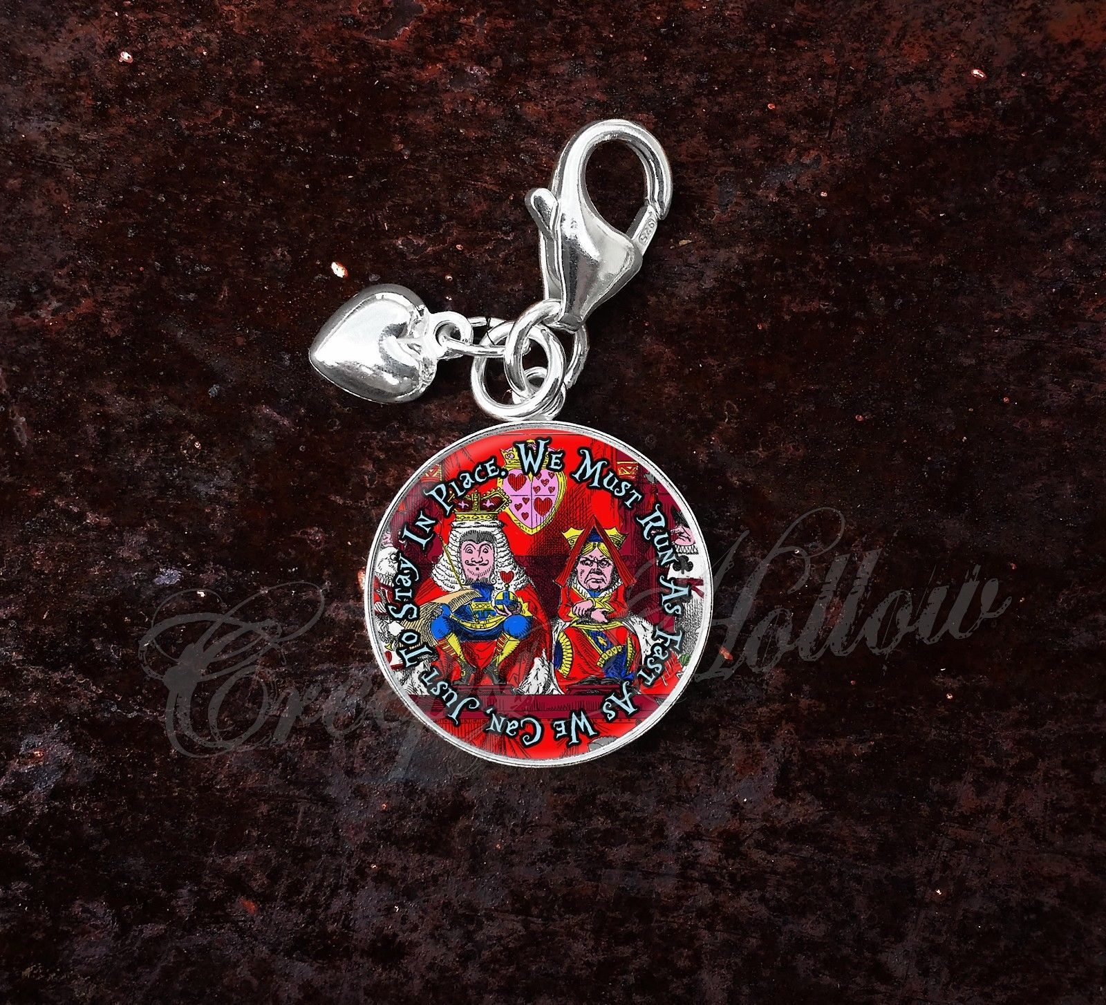 Sterling Silver Charm Choose Alice Wonderland Lewis Carroll Choose Quote image 7