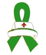 Kidney Cancer Lapel Pin Nurse Cap Green Awarene... - $10.97