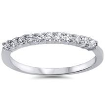 1/4ct Diamond Wedding Ring 14K White Gold - £263.40 GBP