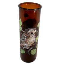 """Vintage 1970s Brown Glass 9"""" Owl Candle - Great Retro Decor Piece - $19.95"""