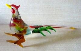 "Vintage Venetian Murano Art Glass Rooster/3"" ta... - $37.95"