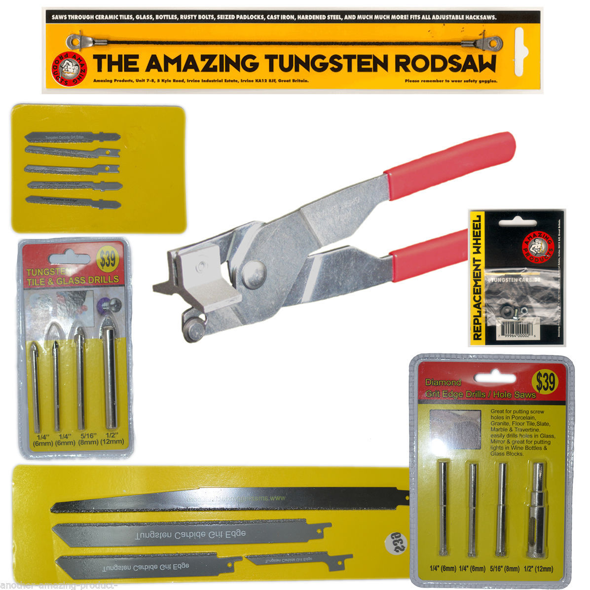 21 piece Tile and Glass Cutting drilling and boring Kit Ceramic Porcelain Marble - $223.47