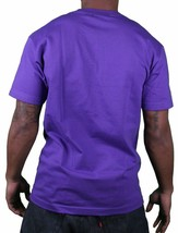 Famous Stars & Straps Mens Purple White Motion BOH Badge of Honor T-Shirt NWT image 2
