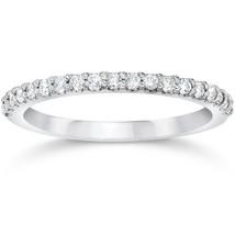 1/8ct White Gold Diamond Anniversary Wedding Guard Ring - £306.68 GBP