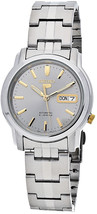 Seiko Automatic SNKK67 SNKK67K1 Mens Day Date Stainless Steel Watch - $68.00