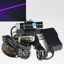 Focusable Violet 405nm 120mw Line Laser Module w/ Adapter 16X65mm + mount - $28.03