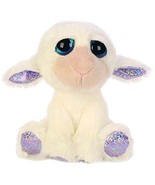Russ Suki Gifts Lil Peepers Fun April Lamb Plush Toy with Silver Sparkle... - $15.21